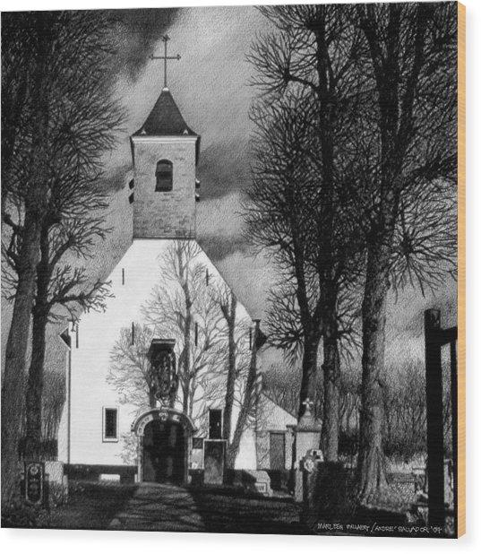 Sint Jin Chapel Wood Print