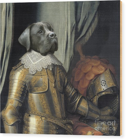 Sir Dog Wood Print