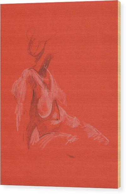 Sitting Model 1999 Wood Print