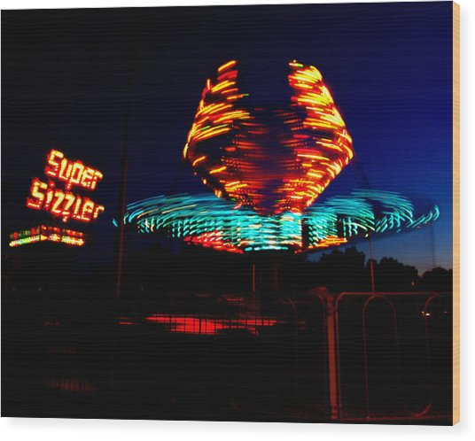 Sizzler Wood Print by Jessica Duede