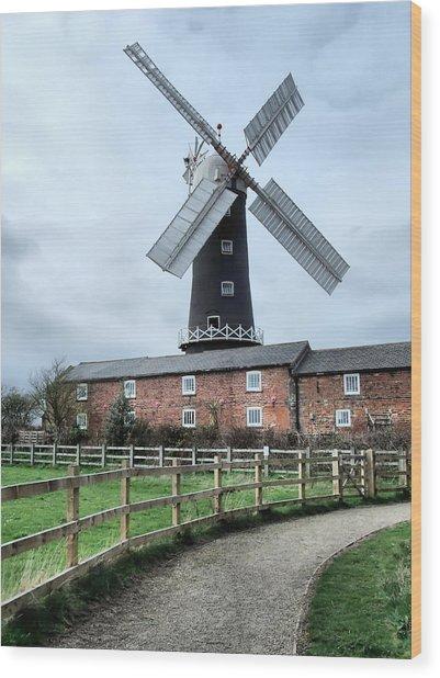 Skidby Windmill Wood Print