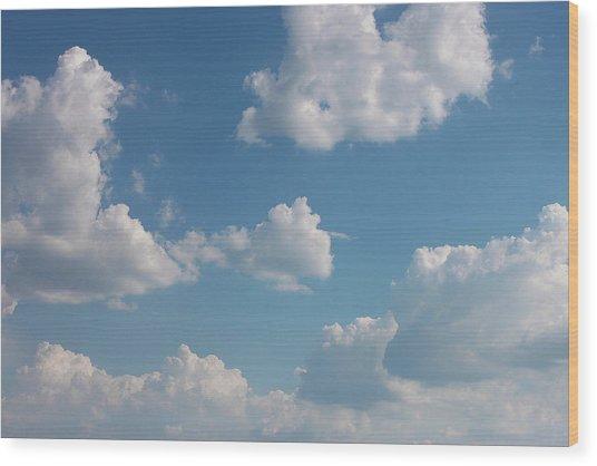 Sky Wood Print by Alexa Alexandru-Michael