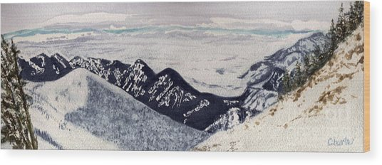 Slachman's Ridge Wood Print by Vikki Wicks