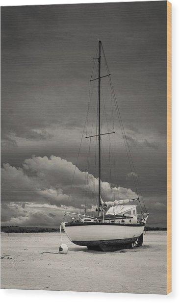 Sleeping Boats Wood Print