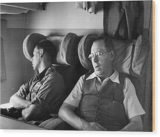 Sleeping Passengers Wood Print by Haywood Magee