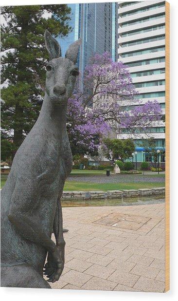Smith Kangaroo Wood Print by Gregory Smith