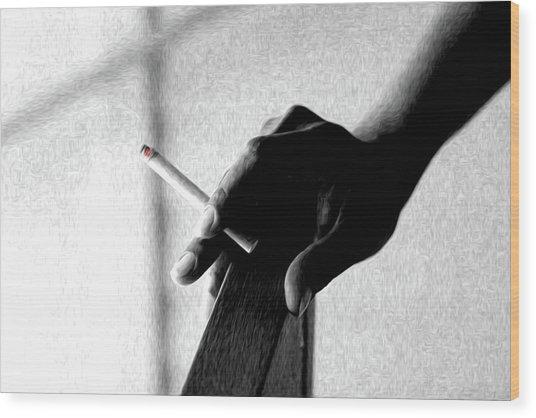 Smoke Wood Print by Dax Ian