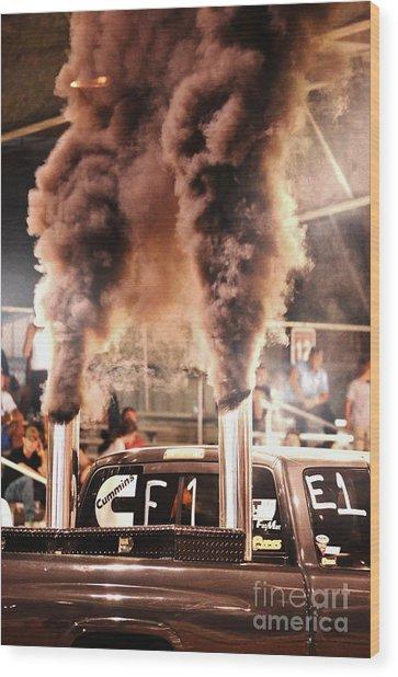 Smoke Signals Wood Print