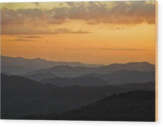 Smokey Sunset 1 Wood Print