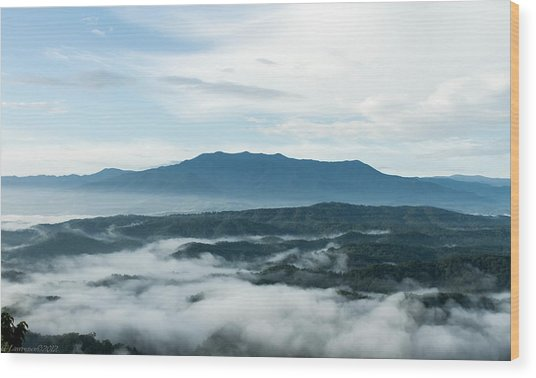 Smoky Mountain Morning   Wood Print by Glenn Lawrence