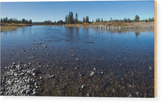 Snake River In Yellowstone Wood Print