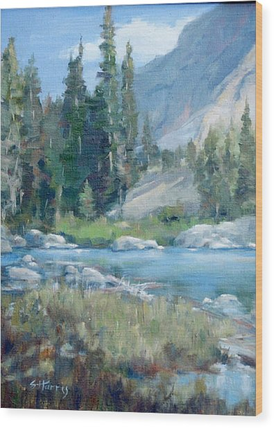 Snake River Wood Print by Sandra Harris