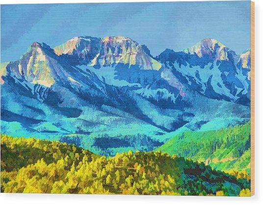 Sneffels Range Wood Print