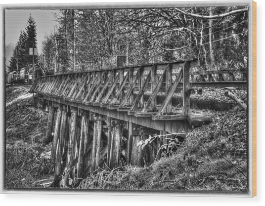 Snoqualmie Trestle Wood Print by Scott Massey