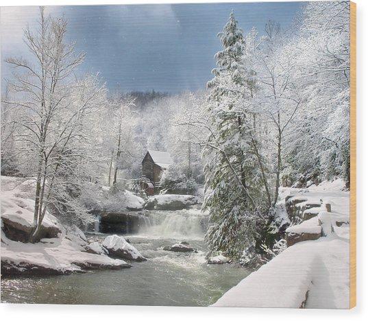 Snow At Babcock State Park Wood Print