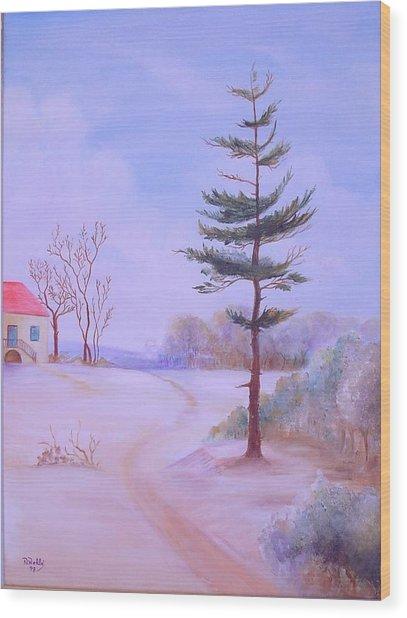 Snow Wood Print by Nabil Wehbe