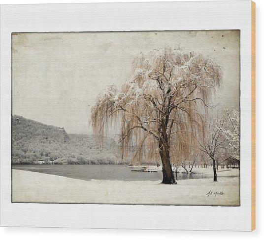 Snow Tree 1 Wood Print