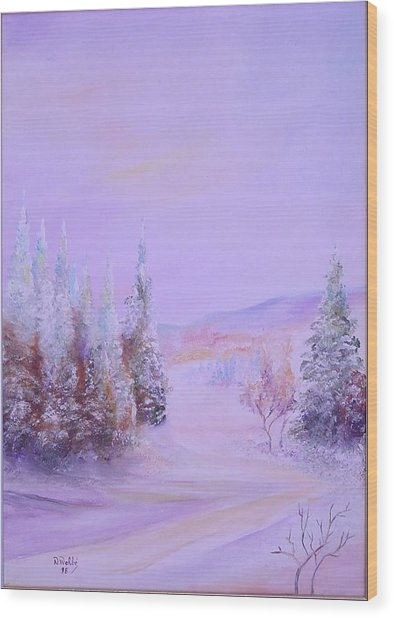 Snow1 Wood Print by Nabil Wehbe