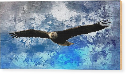 Soaring Wood Print by Carrie OBrien Sibley