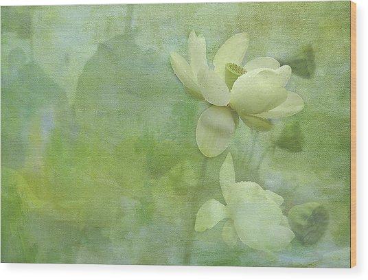 Soft Lillies Wood Print