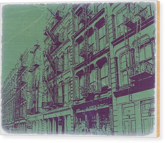 Soho New York Wood Print