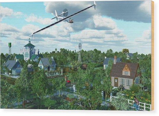 Solar Flight Wood Print by Diana Morningstar