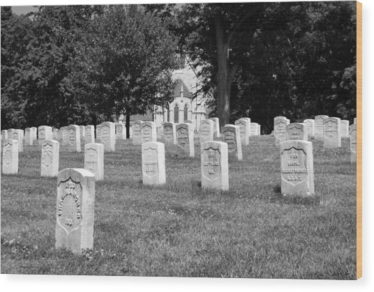 Soldiers At Rest Wood Print