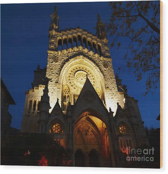 Soller Cathedral Wood Print