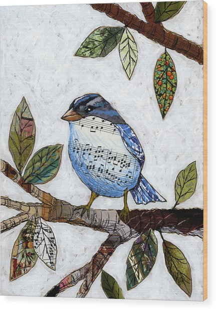 Songbird Wood Print by Amy Giacomelli