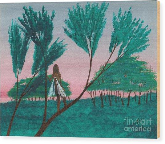 Soon... A Sunrise... Wood Print by Robert Meszaros