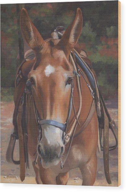Sorrel Mule Wood Print
