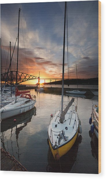 South Queensferry Harbour Wood Print by Keith Thorburn LRPS AFIAP CPAGB