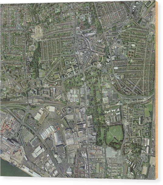 Southampton,uk, Aerial Image Wood Print by Getmapping Plc