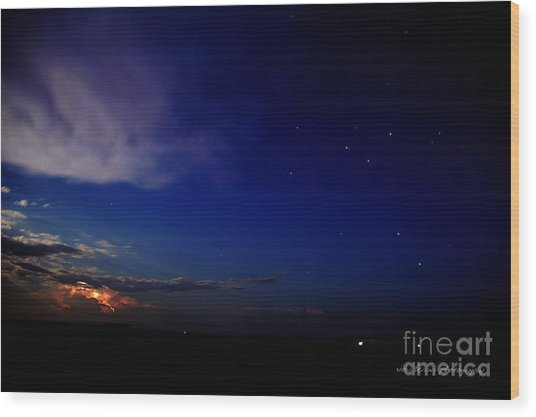 Wood Print featuring the photograph Southern Ocean Storm by Vicki Ferrari
