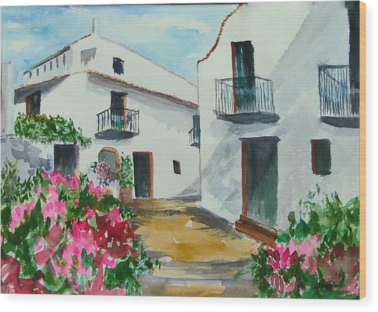 Spanish Balconies Wood Print by Heidi Patricio-Nadon