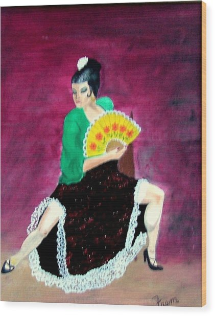 Spanish Dancer Wood Print