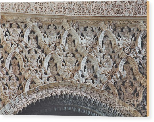 Spanish Intricacy Wood Print