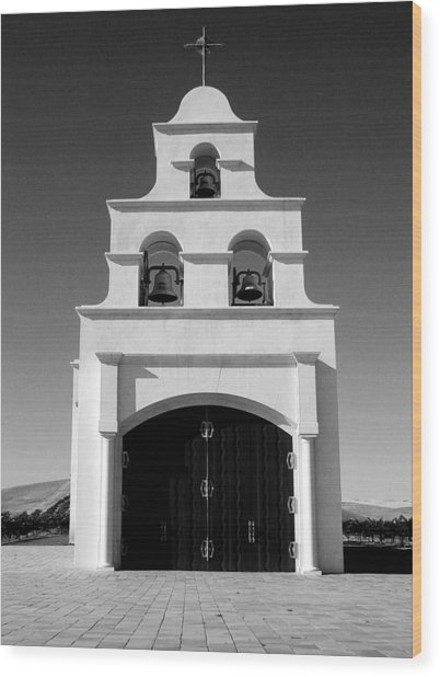 Spanish Mission Front Wood Print