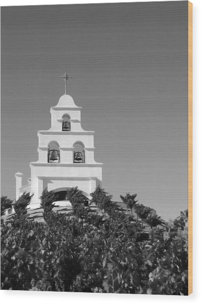 Spanish Mission In The Vineyards I Wood Print