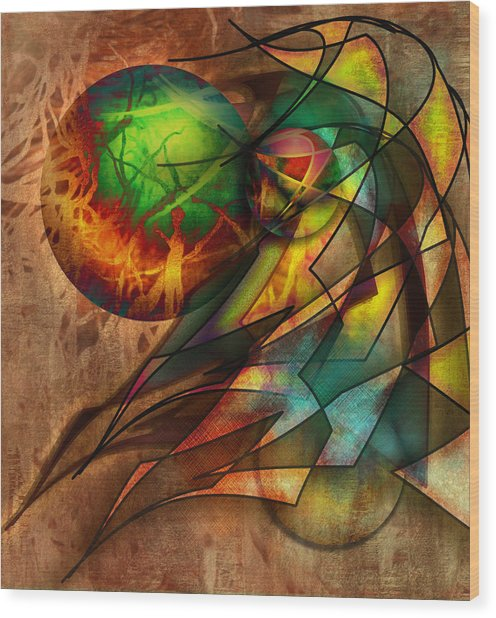 Sphere Of Influence Wood Print by Monroe Snook
