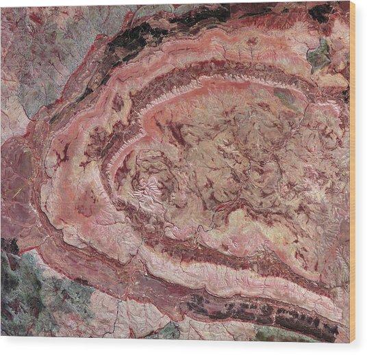 Spider Crater, Australia, Satellite Image Wood Print