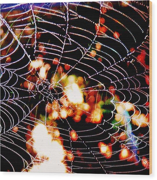 Spider Love Wood Print by Greta Thorsdottir