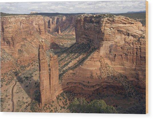 Spider Rock, Arizona, Usa Wood Print