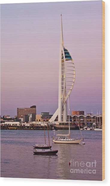 Spinnaker Tower Wood Print by John Basford