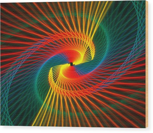 Spiral Rainbow  Wood Print by Kim French