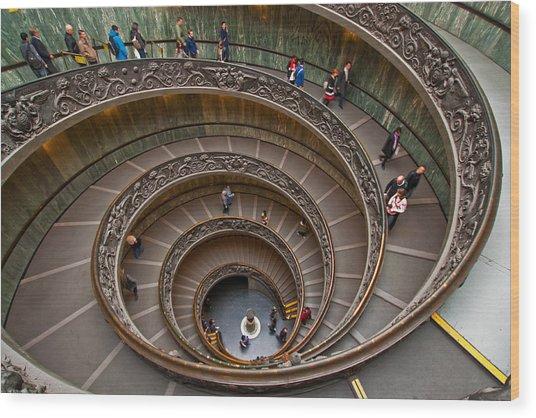 Spiral Ramp Wood Print