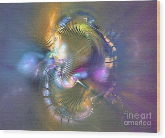 Spirit Of Nobility - Abstract Digital Art Wood Print by Sipo Liimatainen
