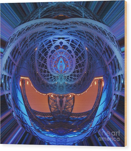 Spirograph Planet Wood Print
