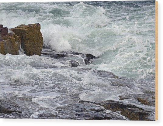 Wood Print featuring the digital art Splash Of Sea Lace by Lynda Lehmann