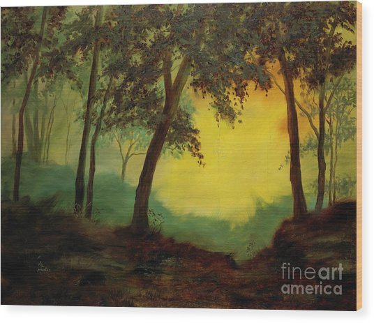 Splendid Solitude Wood Print